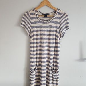 Marc By Marc Jacobs Striped Casual Dress Flawed